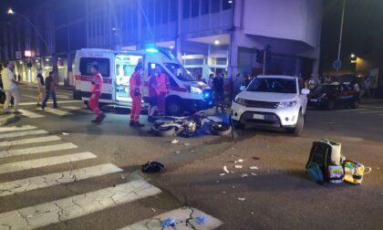 Grave incidente tra auto e moto: interviene l'elisoccorso