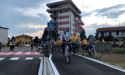 Inaugurata la pista ciclabile di Castellazzo De' Stampi