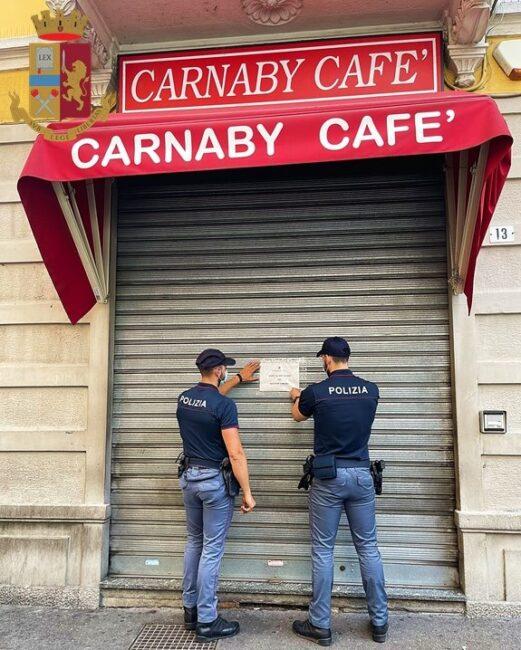 legnano bar carnaby chiuso 15 giorni questore polizia