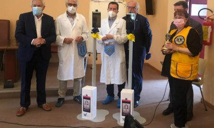 Il Lions dona monitor e termoscanner all'ospedale