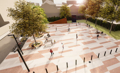 Piazza nuovo Teatro: chiusa per lavori via Dante da via Castelli Forenza a Corso Europa