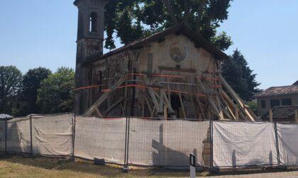 Morimondo, il punto sui lavori alla chiesetta di Fallavecchia