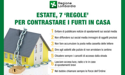 Furti in casa d'estate: sette regole per prevenirli