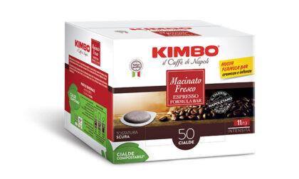La nuova formula della cialda Kimbo Macinato Fresco è gustosa e sostenibile, per un caffè come al bar super eco-friendly