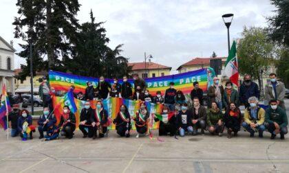 Marcia della pace in piazza a Cornaredo