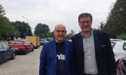 Visita dell'onorevole Giorgetti a Nerviano per supportare il sindaco Cozzi