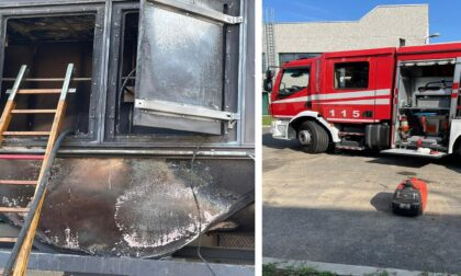 Incendio in uno stabilimento della zona industriale di Cassinetta
