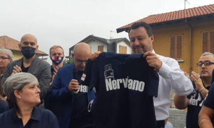 Salvini accende la piazza di Nerviano