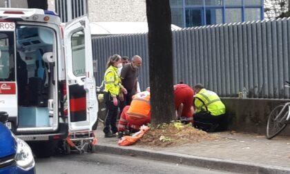 Grave incidente per un ciclista a Legnano