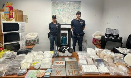 La casa come raffineria: sequestrati quaranta kg di droga