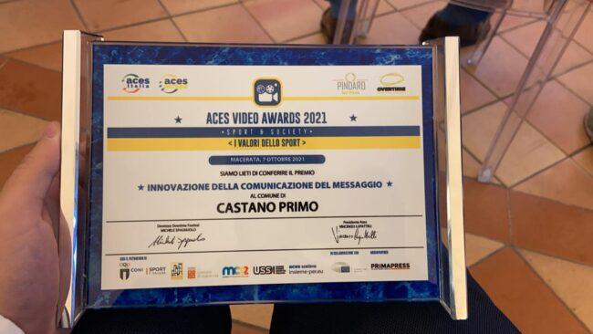 Castano Primo vince il premio innovazione della comunicazione da Aces