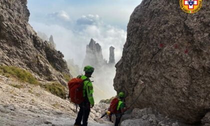 Incidente in Grignetta: salvati due giovani alpinisti