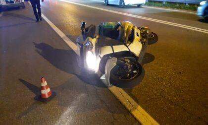 Incidente sul Sempione: motociclista in ospedale